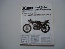 advertising Pubblicità 1980 MOTO ASPES JUMA 125 MONOSCOCCA