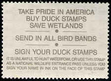 RW57b FEDERAL DUCK STAMP Reverse Inscription printed on Stamp Paper ERROR