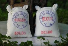 Miniature Dollhouse FAIRY GARDEN Accessories ~ Bakery Flour & Sugar Sacks ~ NEW