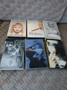 6 Madonna- cassette singles rain ,erotica, deeper and deeper,secret, take a bow.
