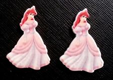2 x Disney Princess Ariel Pink Dress Planar Flatback Resin Flat Back Hair Resins