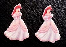 2 x Disney Princess Ariel Pink Dress Planar Flatback Resin Flat Back Hair Resins