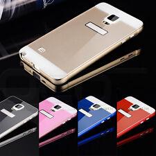 Gold Metal Aluminum Bumper Panel + PC Back Case for Samsung Galaxy Note 4 #YA9C
