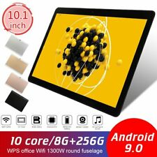 """10"""" inch Tablet PC 8G+256GB Android 9.0 10 Core Dual Camera GPS Wi-Fi Phablet US"""
