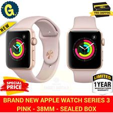 New Apple Watch Series 3 38mm Rose Gold Aluminium Case GPS Pink Sand Sport Band