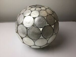 Capiz Orb Sphere Ceiling Lamp Shade -  26cm H