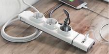 BASE MULTIPLE  ALLOCACOC con 3 enchufes y doble cargador USB Rapido Desmontable