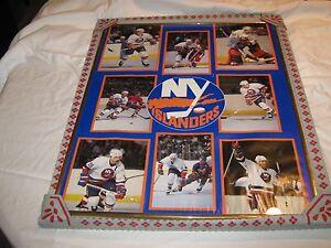 New York Islanders Poster , Vintage , 1988 , Framed