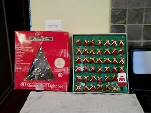Holiday Time 40 Musical Bell Light Set--New Opened Box