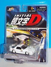JADA Toys 2004 Initial D 1:64 Series MAZDA RX-7 FC3S White RedSuns HTF Release