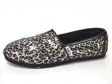 TOMS  Shoes Leopard Animal Print Sparkle Slip On Flats Womens US 5 EU 35.5 $60
