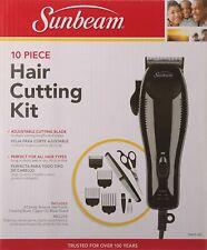 USED Sunbeam 10 Piece Hair Cutting Kit