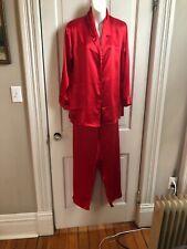 Red vintage 80s satin Hidden Fantasies pajamas