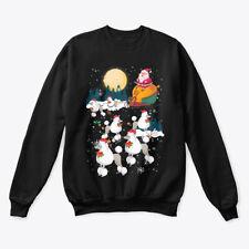 Dog Reindeer Poodle Christmas Gift Hanes Unisex Crewneck Sweatshirt