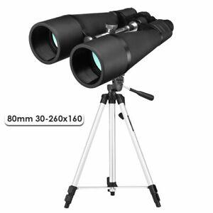 SAKURA 80mm Fernglas Nachtsicht Ferngläser 30-260x160 HD Binoculars mit Stativ