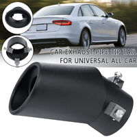 Rear 63MM Car Exhaust Pipe Tip Tail Stainless Steel Black Universal Black  YI