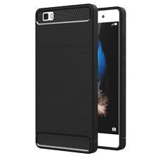 Funda Protectora para Huawei P8lite ALE-L21 Suave TPU Silicona Carbono Fibra