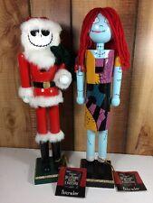 The Nightmare Before Christmas JACK SKELLINGTON Nutcracker & Sally Set New 2016