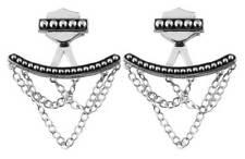 Harley-Davidson Women's Chandelier Chain Beaded Ear Jackets, Silver HDE0453