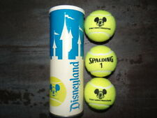 Vintage Spalding Disneyland Tennis Ball Can Set - Mickey Mouse #1 Balls