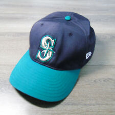 VTG New Era Teal Silver SEATTLE MARINERS BASEBALL HAT Cap One Size Fits All MLB