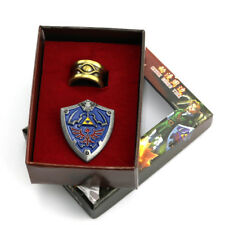 The Legend of Zelda Ring + hylian shield Metal Pin Badge