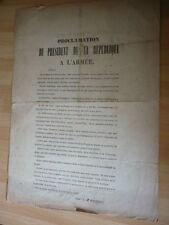 PROCLAMATION DE  LOUIS-NAPOLEON  LE2 DECEMBRE 1851 APPEL AU PEUPLE