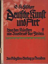 Fischer: Deutsche Kunst und Art  (mit 44 Abb.)   1924