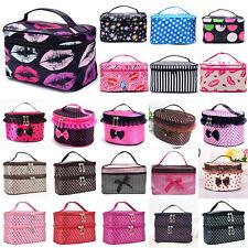 Women Large Cosmetic Make Up Travel Toiletry Bag Box Case Organizer Handbag NEW!