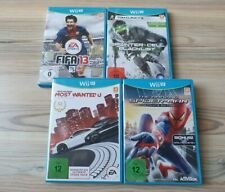 Nintendo Wii U Spiele Need for Speed Most Wanted Spiderman Fifa 13 Splinter Cell