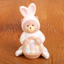 Rabbit Dressed As Bear Easter Porcelain Figurine