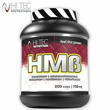HMB 200 Caps. Anticatabolic Lean Muscle Build Fat Burner Doping Free Supplement