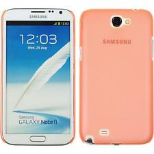 Hardcase for Samsung Galaxy Note 2  orange Cover + protective foils