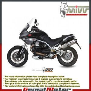 Mivv Exhaust Muffler Speed Edge Stainless Steel Moto Guzzi Stelvio 2008 > 2016