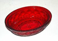 Westmoreland Glass Hen on Nest Covered Dish Ruby Red BOTTOM ONLY Marked