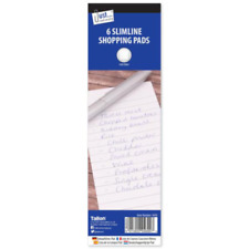 6 x Slimline Lined Shopping Pads To Do Lists Note Book White Plain Covers