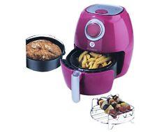 Kochwerk 9 in 1 Fritteuse Grill Ofen Heissluftfritteuse Brotbackautomat Rosa