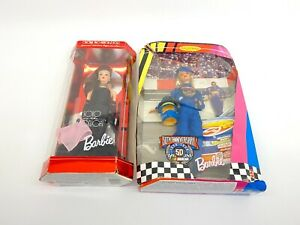 Lot of 2 Mattel Barbies 1994 Solo in the Spotlight, 1998 5th Anniversary NASCAR