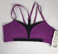 Lululemon Interval Bra *Silver Size 10 New with tag ultra violet black