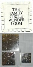1981 Vtg Family Circle Wonder Loom + Metal Retractable Weaving + Crochet Loom