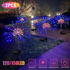 1/2pcs Solar Firework Starburst Fairy Lights Stake Outdoor Garden Path Lawn Lamp