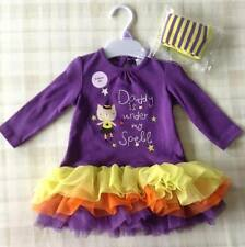 Girls Tutu Witch Dress & Tights Party Outfit/Fancy Dress Up/Halloween Costume