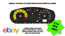 Renault Clio MK2 182 Carbon Dialcards- MK3 Style