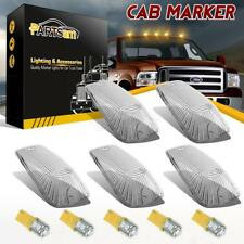 5 Roof Cab Marker Light Clear Cover +5 Amber LED Bulb for Chevrolet K2500 K3500