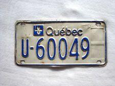 QUEBEC Vintage License Plate FARM # U-60049