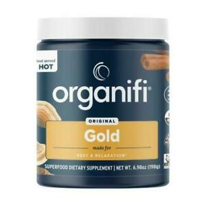 Organifi GOLD Gently Dried Superfood Tea Turmeric and Reishi Infused Exp 11/2022