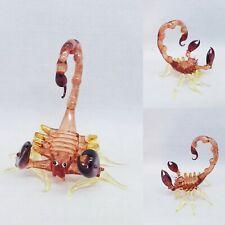 Scorpion Figurine Hand Blown Glass Art Lampwork Miniature Animal Insect Decor
