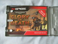 ULTRA RARE- N-Gage WARHAMMER Glory In Death Gold Master Case,sleeve & media CD!