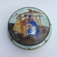 Ancien Petit COFFRET à Bijoux Tripode en Porcelaine de LIMOGES Lazeyras Joseph