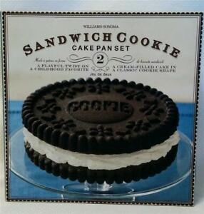 Williams Sonoma Sandwich Cookie Cake*Aluminum Pan Set*Excellent Condition in Box